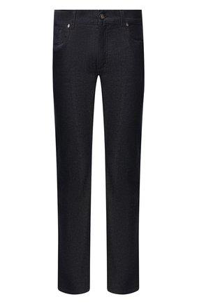 Мужские джинсы с отделкой из кожи змеи BILLIONAIRE темно-синего цвета, арт. MDT1860 | Фото 1