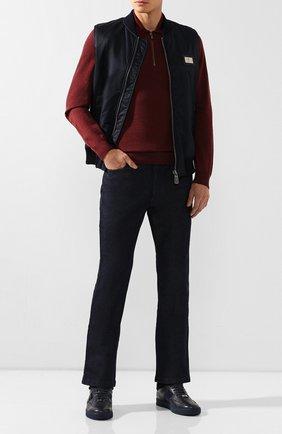 Мужские джинсы с отделкой из кожи змеи BILLIONAIRE темно-синего цвета, арт. MDT1860 | Фото 2
