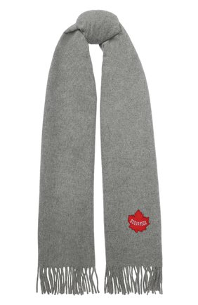 Мужской шерстяной шарф DSQUARED2 серого цвета, арт. SCW0008 01W00001 | Фото 1
