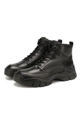 Мужские кожаные ботинки TOD'S черного цвета, арт. XXM81B0CD00N0A | Фото 1