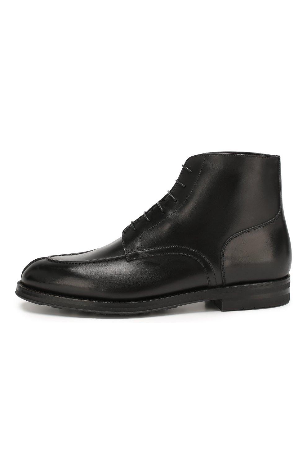 Мужские кожаные ботинки W.GIBBS черного цвета, арт. 0639006/0220 | Фото 3