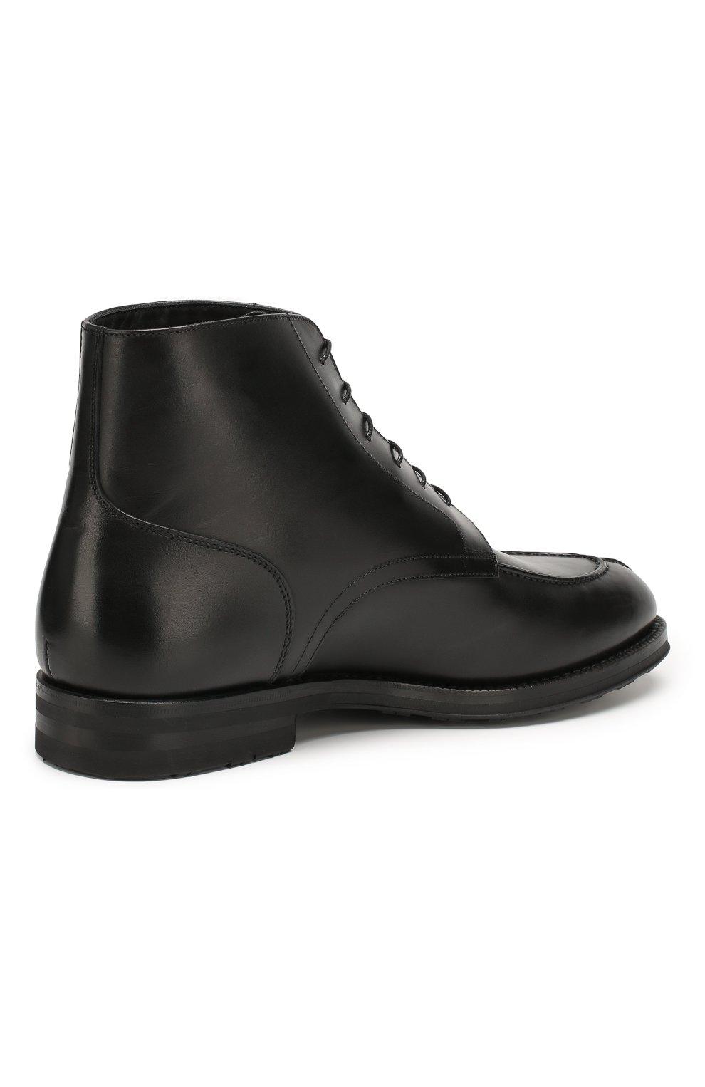 Мужские кожаные ботинки W.GIBBS черного цвета, арт. 0639006/0220 | Фото 4