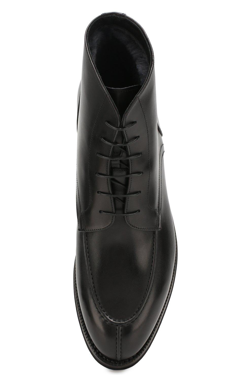 Мужские кожаные ботинки W.GIBBS черного цвета, арт. 0639006/0220 | Фото 5
