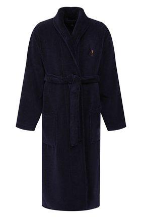 Мужской хлопковый халат RALPH LAUREN темно-синего цвета, арт. 714621695 | Фото 1