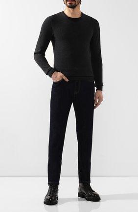 Мужской кашемировый пуловер DANIELE FIESOLI темно-серого цвета, арт. WS 3004 | Фото 2