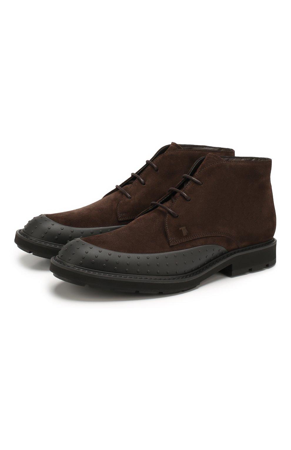 Замшевые ботинки   Фото №1