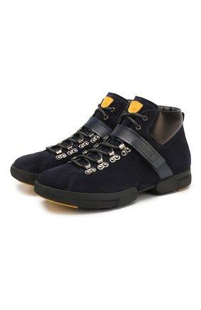 Мужские замшевые ботинки W.GIBBS синего цвета, арт. 0260008/1899   Фото 1