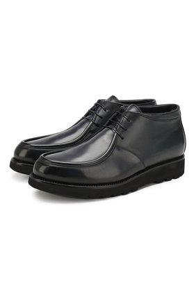 Мужские кожаные ботинки W.GIBBS синего цвета, арт. 0877001/1083   Фото 1