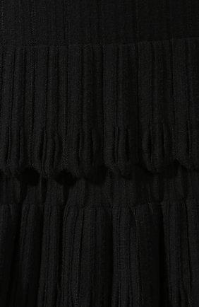 Женская юбка из смеси шерсти и вискозы ALAIA черного цвета, арт. 9W9JE30CM486   Фото 5