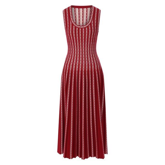 Платье из смеси вискозы и шерсти Alaia