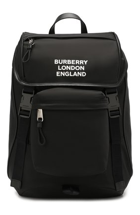 Мужской текстильный рюкзак BURBERRY черного цвета, арт. 8018113   Фото 1
