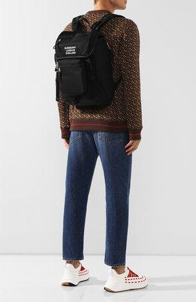 Мужской текстильный рюкзак BURBERRY черного цвета, арт. 8018113 | Фото 2