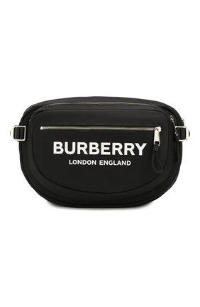 Мужская текстильная поясная сумка BURBERRY черного цвета, арт. 8017745 | Фото 1