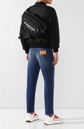 Мужская текстильная поясная сумка BURBERRY черного цвета, арт. 8017745 | Фото 2