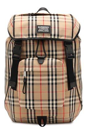 Мужской текстильный рюкзак BURBERRY бежевого цвета, арт. 8017736 | Фото 1
