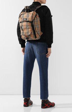 Мужской текстильный рюкзак BURBERRY бежевого цвета, арт. 8017736 | Фото 2