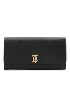 Женские кожаный кошелек BURBERRY черного цвета, арт. 8018938   Фото 1