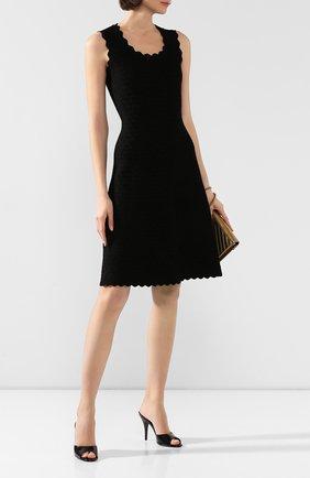 Женские кожаные мюли scarlet GUCCI черного цвета, арт. 593389/CLG00 | Фото 2