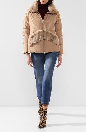 Женский пуховая куртка DIEGO M бежевого цвета, арт. 19IM-G705.0TM | Фото 2