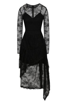 Женское платье ERMANNO ERMANNO SCERVINO черного цвета, арт. 45T AB24 PIZ | Фото 1