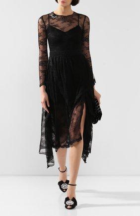 Женское платье ERMANNO ERMANNO SCERVINO черного цвета, арт. 45T AB24 PIZ | Фото 2