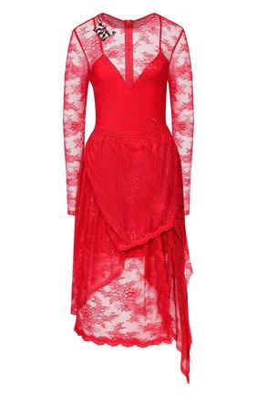 Женское платье ERMANNO ERMANNO SCERVINO красного цвета, арт. 45T AB24 PIZ   Фото 1