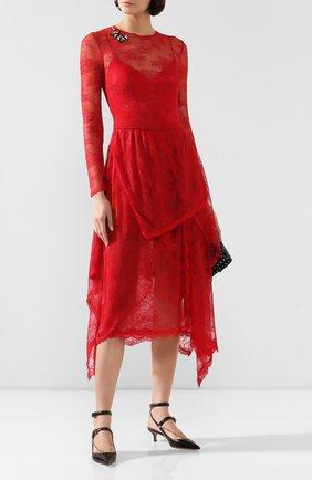 Женское платье ERMANNO ERMANNO SCERVINO красного цвета, арт. 45T AB24 PIZ   Фото 2