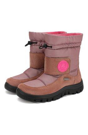 Детские текстильные сапоги NATURINO розового цвета, арт. 0013001375/01/33   Фото 1