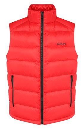Мужской пуховый жилет HUGO красного цвета, арт. 50411578 | Фото 1
