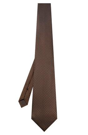 Мужской галстук TOM FORD коричневого цвета, арт. 6TF58/XTF   Фото 2