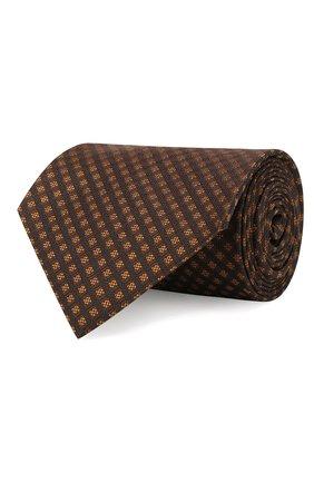 Мужской шелковый галстук TOM FORD коричневого цвета, арт. 6TF57/XTF   Фото 1