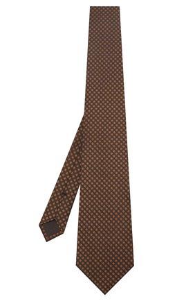 Мужской шелковый галстук TOM FORD коричневого цвета, арт. 6TF57/XTF   Фото 2