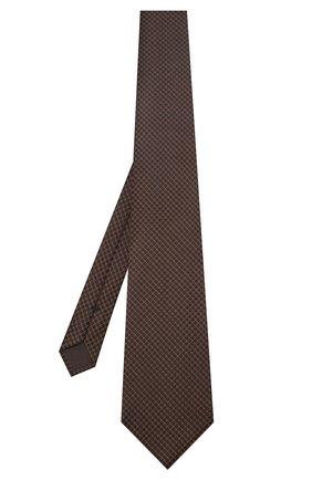 Мужской шелковый галстук TOM FORD коричневого цвета, арт. 6TF35/XTF   Фото 2