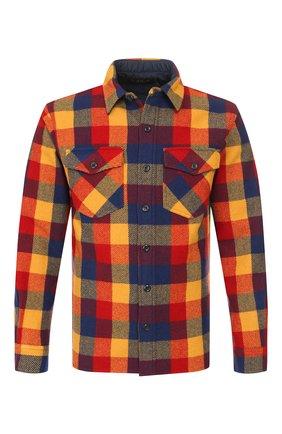 Мужская шерстяная рубашка RRL разноцветного цвета, арт. 782758378 | Фото 1 (Статус проверки: Проверено; Рукава: Длинные; Длина (для топов): Стандартные; Материал подклада: Купро; Материал внешний: Шерсть; Случай: Повседневный; Воротник: Кент)