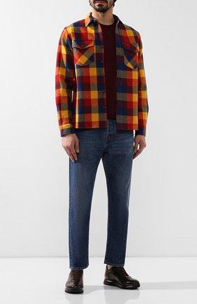 Мужская шерстяная рубашка RRL разноцветного цвета, арт. 782758378 | Фото 2 (Статус проверки: Проверено; Рукава: Длинные; Длина (для топов): Стандартные; Материал подклада: Купро; Материал внешний: Шерсть; Случай: Повседневный; Воротник: Кент)
