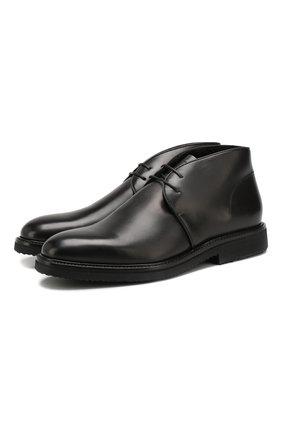 Мужские кожаные ботинки ERMENEGILDO ZEGNA черного цвета, арт. A4336X-LHERA   Фото 1