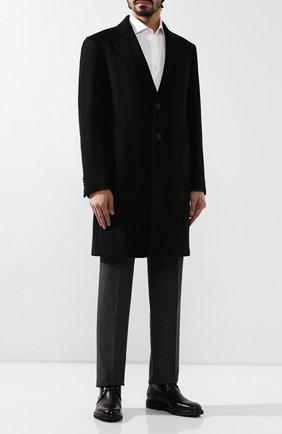 Мужские кожаные ботинки ERMENEGILDO ZEGNA черного цвета, арт. A4336X-LHERA   Фото 2