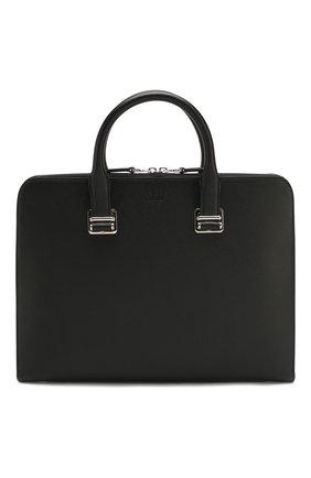 Мужская кожаная сумка для ноутбука DUNHILL черного цвета, арт. DU19F3805CA | Фото 1