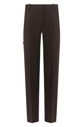 Мужской шерстяные брюки BRIONI темно-коричневого цвета, арт. RPN60L/06AAF/D0L0MIA | Фото 1