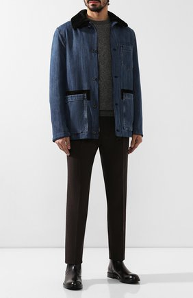 Мужской шерстяные брюки BRIONI темно-коричневого цвета, арт. RPN60L/06AAF/D0L0MIA | Фото 2