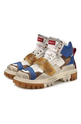 Мужские кожаные ботинки DOLCE & GABBANA разноцветного цвета, арт. CS1699/AJ565 | Фото 1