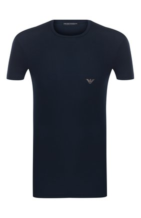 Мужские футболка EMPORIO ARMANI темно-синего цвета, арт. 111341/9A511 | Фото 1