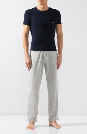 Мужские футболка EMPORIO ARMANI темно-синего цвета, арт. 111341/9A511 | Фото 2