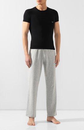 Мужские футболка EMPORIO ARMANI черного цвета, арт. 111341/9A511 | Фото 2