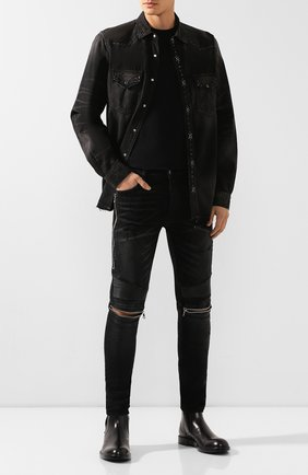 Мужские джинсы AMIRI черного цвета, арт. W9M01185SD | Фото 2
