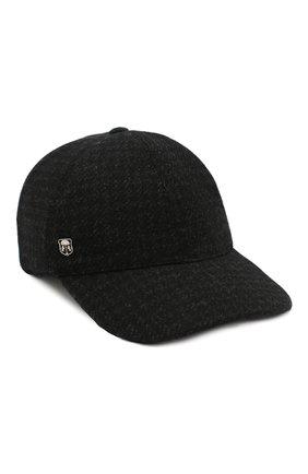 Мужской кашемировая бейсболка CORNELIANI черного цвета, арт. 840336-9829203/00 | Фото 1