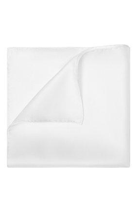 Мужской шелковый платок TOM FORD белого цвета, арт. TFZ90/TF312 | Фото 1