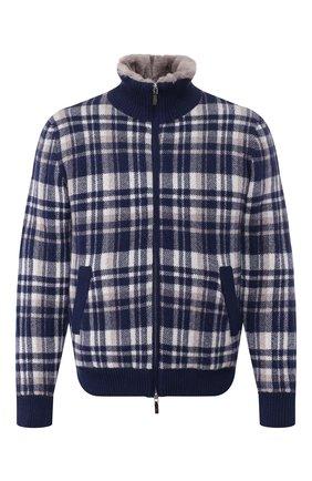Кашемировая куртка с меховой подкладкой | Фото №1