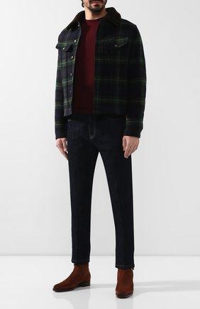 Мужская шерстяная куртка с меховой подкладкой RALPH LAUREN разноцветного цвета, арт. 790750638 | Фото 2