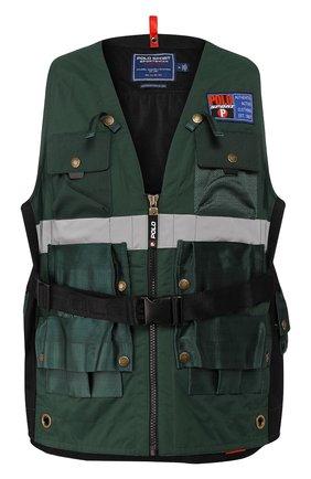 Мужской жилет с поясной сумкой outdoors POLO RALPH LAUREN зеленого цвета, арт. 710760925 | Фото 1